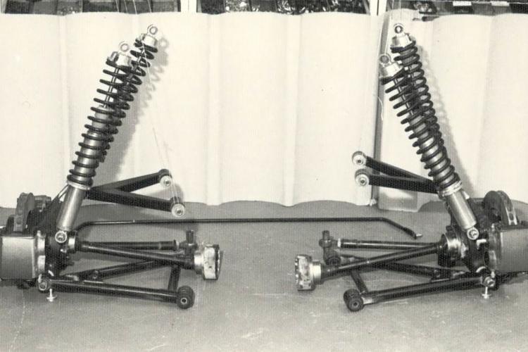 Ford RS 200 - Rear Suspension Setup