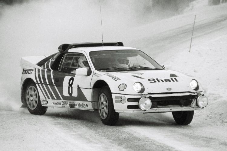 Ford RS200, Gr. B (B12), K. Grundel-B. Melander (SWE-SWE), 1986 Swedish Rally, 3rd overall (Photo: V. Caro)