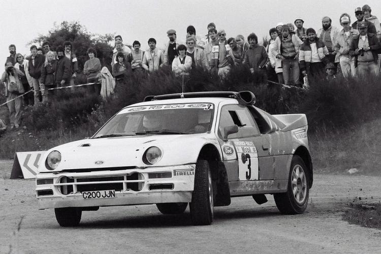 Ford RS200, Gr. B (B12), S. Andervang-A. Lieuwma (SWE-NLD), 1986 Hunsrück Rallye, 2nd overall (Photo: V. Caro)